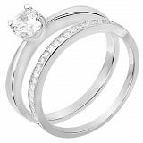 Двойное серебряное кольцо Мэриан