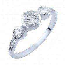 Серебряное кольцо Лилла с фианитами