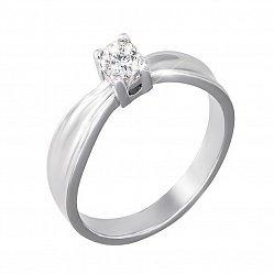 Кольцо в белом золоте Изабелла с бриллиантом
