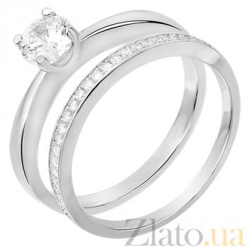 Двойное серебряное кольцо Мэриан 31121