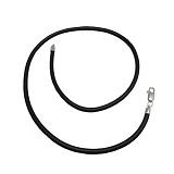 Каучуковый шнурок с серебряным замком Маруан, d=4мм