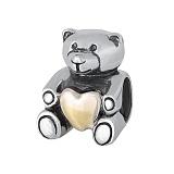Серебряный подвес-шарм Медвежонок