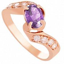 Золотое кольцо Соблазн с александритом и фианитами