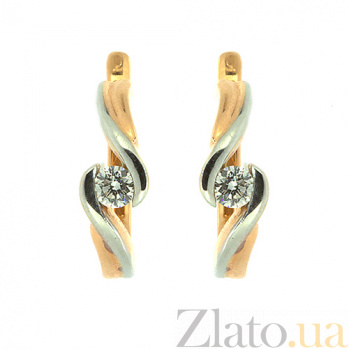 Золотые серьги с бриллиантами Берта ZMX--ED-6277_K
