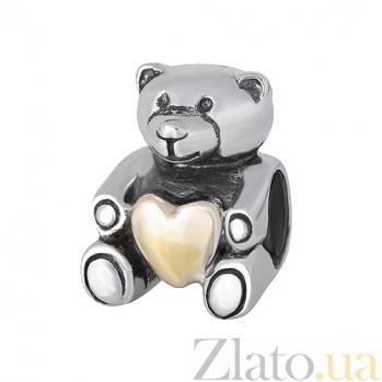 Серебряный подвес-шарм Медвежонок SLX--П5/8025