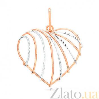 Золотой кулон Горячее сердце SUF--421863
