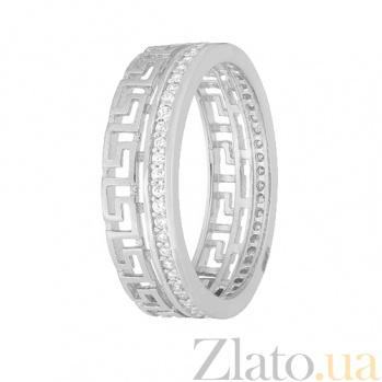 Серебряное кольцо с фианитами Ксавира 000028267