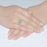 Серебряное кольцо с изумрудомТропикана