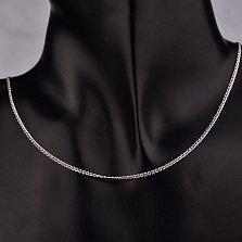 Серебряная родированная цепочка Виная в плетении нонна