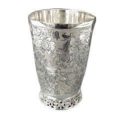 Серебряный стакан Винтажный стиль
