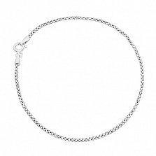 Серебряный браслет Виргиния с родированием, 19 см