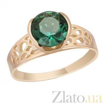 Золотое кольцо с зеленым кварцем Гвиневра SVA--1198051/Кварц