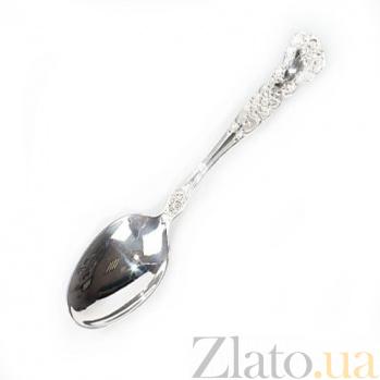 Серебряная десертная ложка Минт 649