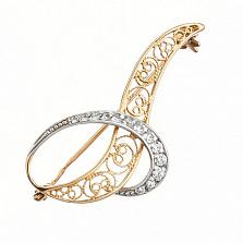 Брошь в двух цветах золота Версаль