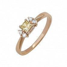 Кольцо в красном золоте Авалайн с бриллиантами