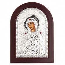 Икона серебряная Божьей Матери Семистрельная