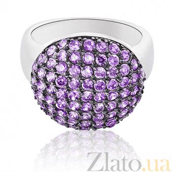 Серебряное кольцо Ангелина Violet с камнями Swarovski 10000011