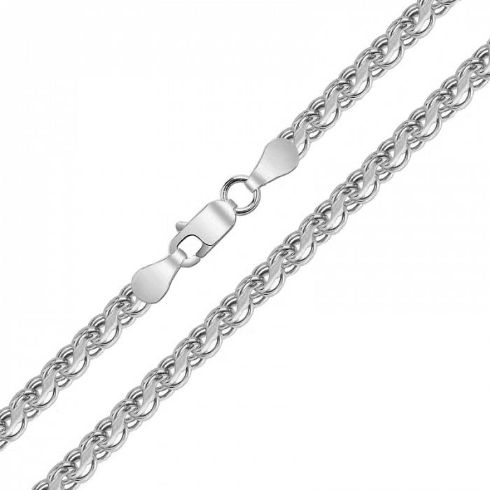 Серебряная цепь Орунд с чернением в плетении бисмарк ручеек, 4мм 000078853