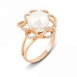 Золотое кольцо с жемчугом Грета Гарбо