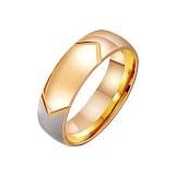 Золотое обручальное кольцо Влюбленная душа в комбинированном цвете