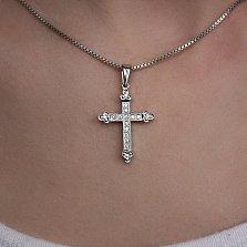 Золотой крестик с бриллиантами Душевная гармония