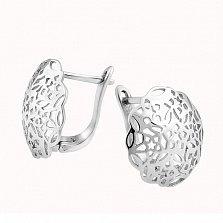 Серебряные серьги Фракталы
