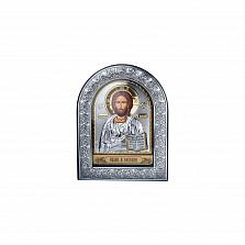 Серебряная икона Иисуса Христа с позолотой