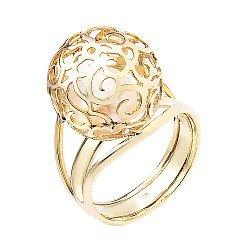 Золотое кольцо с белым жемчугом 000052113