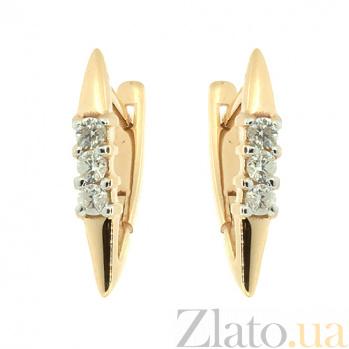 Золотые серьги с бриллиантами Дебора ZMX--ED-6767_K