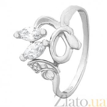 Серебряное кольцо с цирконием Индонезия 000028061