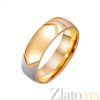 Золотое обручальное кольцо Влюбленная душа в комбинированном цвете TRF--411456
