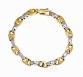 Мужской браслет из желтого и белого золота Бастиан