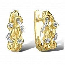 Серьги из желтого золота Галатея с бриллиантами