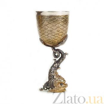 Серебряная рюмка Золотая рыбка 393