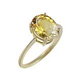 Кольцо из желтого золота с цитрином Жизнь