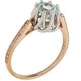 Золотое кольцо Шарлот с топазом и фианитами