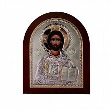 Икона Иисус Спаситель на деревянной основе, 16х8см