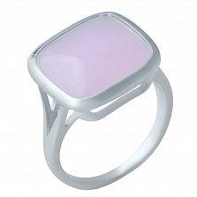 Серебряное кольцо Надин с розовым кварцем