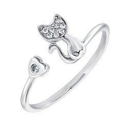 Серебряное кольцо с фианитами 000149057