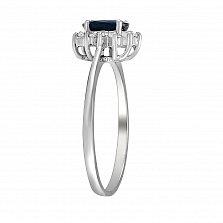 Кольцо из белого золота Раллина с сапфиром и бриллиантами