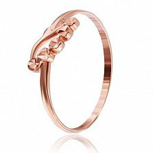 Серебряное кольцо Лучик Солнца с позолотой