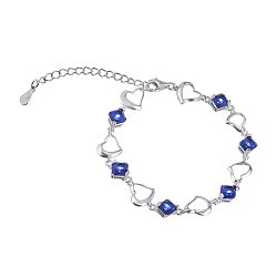 Серебряный браслет с с синими фианитами 000025885