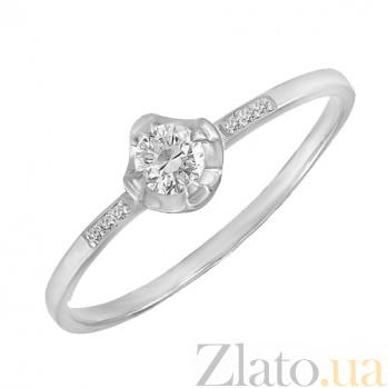 Золотое помолвочное кольцо в белом цвете Стелла 000023222