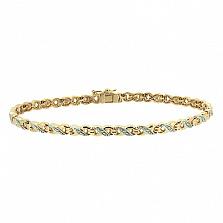 Золотой браслет с бриллиантами Стриж