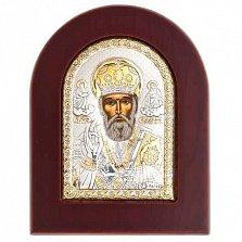 Икона серебро с позолотой Николай Чудотворец