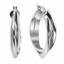 Серебряные серьги-кольца Варвара, 30 мм