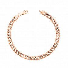 Золотой браслет Акира с алмазной гранью и родированием