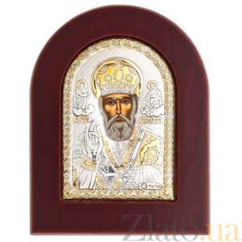Икона серебро с позолотой Николай Чудотворец AQA-MA/E1108EX