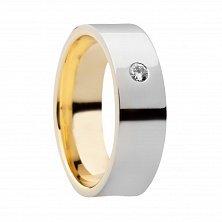 Обручальное кольцо с бриллиантом Fidelity