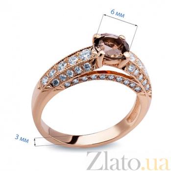 Кольцо с раухтопазом Essie AQA--к010кRT